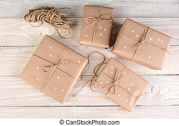 Brown Packages With Stars