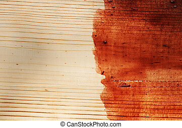 brown paint on old wooden background