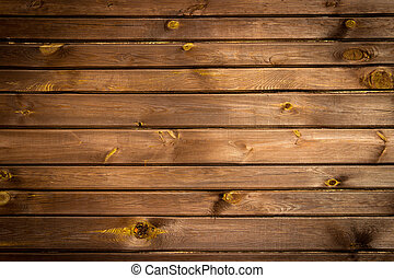 Brown painted wood wall - texture or background