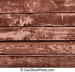 brown painted wooden planks