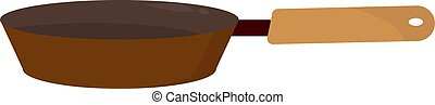 Brown pan, illustration, vector on white background.