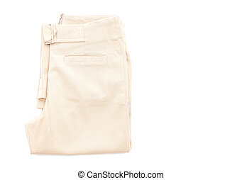 brown pant on white