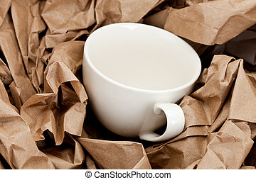 Brown Paper and cup