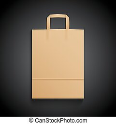 Brown paper Bag Mockup for branding