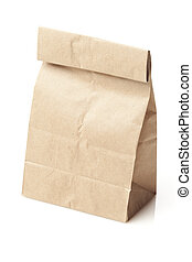 Brown Paper Bag Sack Lunch on a background