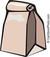 Brown paper bag vector illustration eps 10