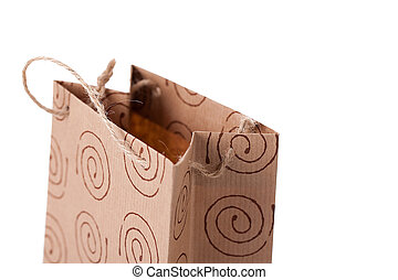Brown paper bag with handles