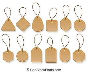 Brown paper blank clothing vintage tags