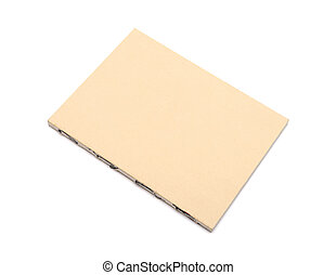Brown paper notepad. Isolated on white background