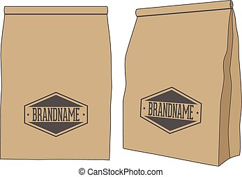 Brown paper Package Bag for your Label or Product