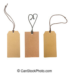 brown paper price tags