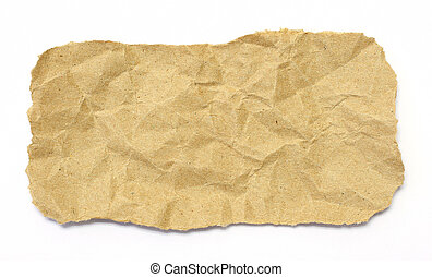 Brown paper texture on white