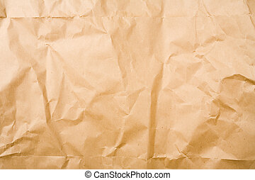 Brown Paper Texture - Crumpled brown packaging paper sheet...