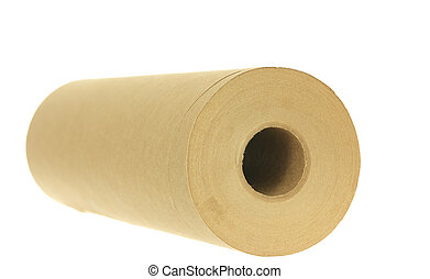 Brown Paper Towels - A photo of a roll of brown paper towels...