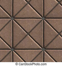 Brown Paving Slabs in the Form of Squares Different Shape.