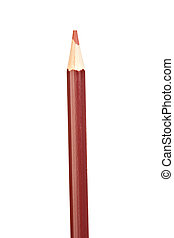 Brown pencil vertically