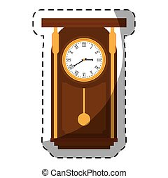 brown pendulum clock icon image