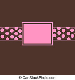 Brown & Pink Polka Dot Invite - brown and pink polka dot...