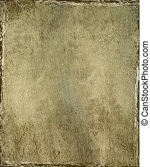 Brown plaster with grunge frame