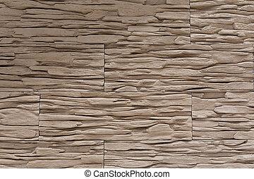 brown plasterboard wall closeup