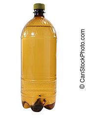 Brown plastic bottle