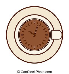 Brown plate with a chocolate clock inside