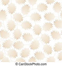 Brown pointy leaves in a seamless pattern
