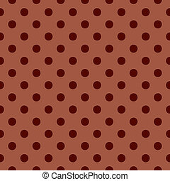 Brown polka dots vector background