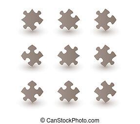 brown puzzle pieces