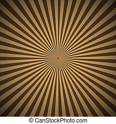 Brown radial rays abstract background