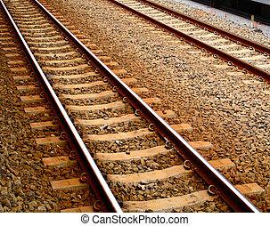 Railroad Tracks - Brown Railroad Tracks