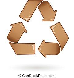 Brown Recycle logo vector