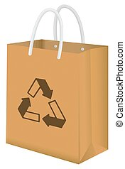 brown recycle paper bag