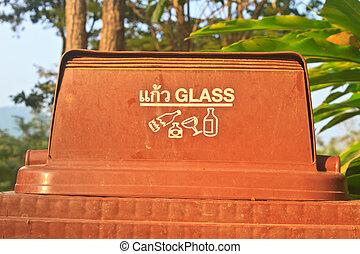 bin with glass symbol