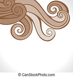brown retro swirl design background