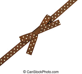 brown ribbon with bow