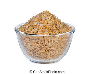 Brown rice in a bowl.