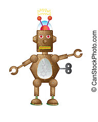 Brown Robot