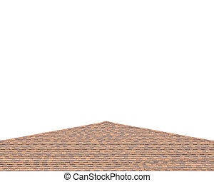 Brown roof shingles isolated on white