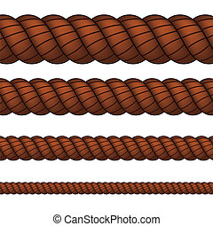 Brown rope in four sizes