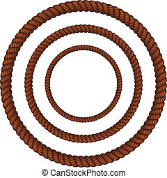 Brown rope in three sizes