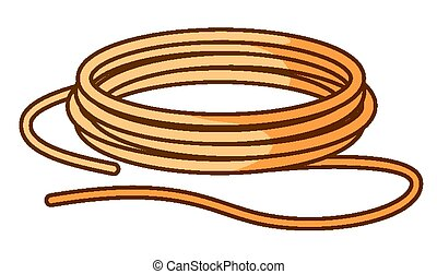 Brown rope on white background
