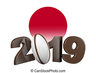Rugby 2019 design with Japan Flag