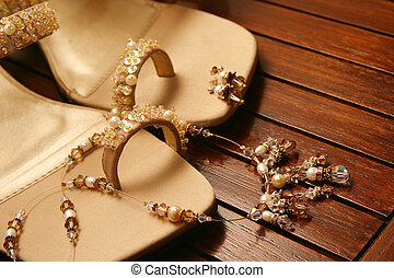 brown sandals - Brown embroidered sandals