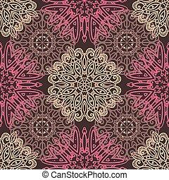 Brown seamless ornamental pattern