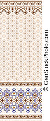 brown seamless pattern with border