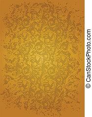 Brown seamless wallpaper pattern, vector