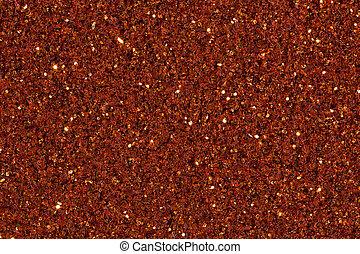 Brown shallow glitter texture. close up.
