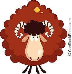 Brown Sheep Vector Illustration