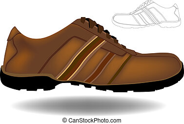 Brown Shoe isolated on a white background.